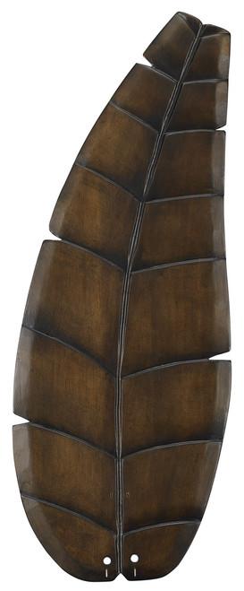 """Fanimation B5300WA 32"""" Oval Leaf Carved Wood Blade in Walnut (Set of 5)"""