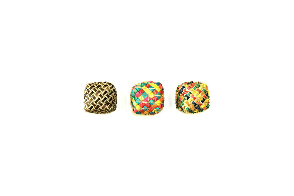 Square Woven Foot Toy 3-Pack