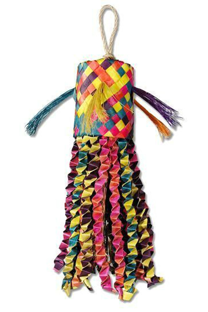 Planet Pleasures Octopus Pinata shredder bird toy.