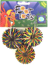 Tire Foot Toy 3-pack