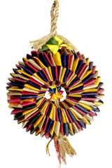 Bird Tire w/ Star bird foraging toy