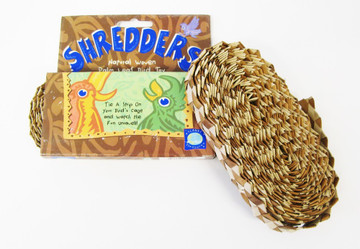 """Planet Pleasures Shredders"" is the perfect bird toy for parrots who love to shred!"
