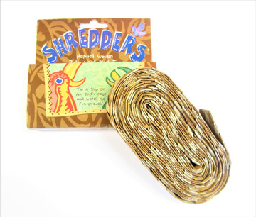 """""""Planet Pleasures Shredders"""" bird toy for parrots who love to shred and chew."""