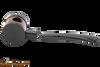 Tsuge Metal Blowfish Black Smooth Tobacco Pipe Apart