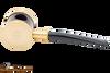 Tsuge Metal Blowfish Gold Smooth Tobacco Pipe