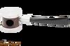Tsuge Metal Blowfish Silver Smooth Tobacco Pipe Top