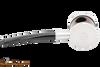 Tsuge Metal Blowfish Silver Smooth Tobacco Pipe