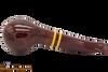Savinelli Regimental Bordeaux 321 Tobacco Pipe - Smooth Bottom