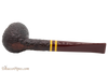 Savinelli Regimental Brown 128 Tobacco Pipe - Rustic Bottom