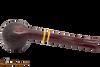 Savinelli Regimental Brown 315 Tobacco Pipe - Rustic Bottom
