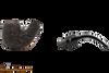 Peterson Aran 221 Bandless Rustic Tobacco Pipe Apart
