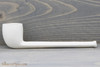 Old German Clay Pipe 2 White Finish