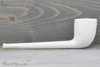 Old German Clay Pipe 1 White Finish Right Side