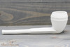 Old German Clay Pipe 12 White Finish Right Side
