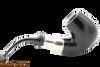 Peterson Ebony Spigot X220 Tobacco Pipe Fishtail Right Side