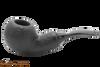 Chacom Reverse Calabash Sandblast Black Tobacco Pipe