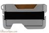 Beyler The New-Fashioned RFID Blocking Slim Metal Wallet Brown Back