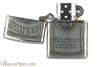 Zippo Spirits Jack Daniels Pewter Emblem Chrome Cigar Lighter