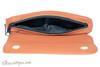 Dunhill White Spot Terracotta Flap Companion Pouch PA2021 Open