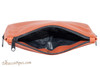 Dunhill White Spot Terracotta 2 Pipe Pouch PA2024 Open