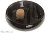 Savinelli Ceramic 1 Pipe Ashtray with Knocker - Black