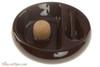 Savinelli Ceramic 1 Pipe Ashtray with Knocker - Brown