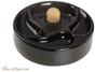 Savinelli Ceramic 3 Pipe Ashtray with Knocker - Black