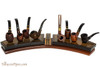 Neal Yarm Maple Burl Mahogany 675 - 8 Pipe Stand Pipes not Included