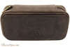 Rattray's Leather 2 Pipe Pouch - Brown