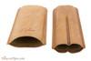 Brigham 2F Corona Cigar Case - Brown Open