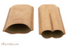 Brigham 2F Robusto Cigar Case - Brown Open