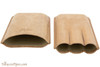 Brigham 3F Robusto Cigar Case - Brown Open