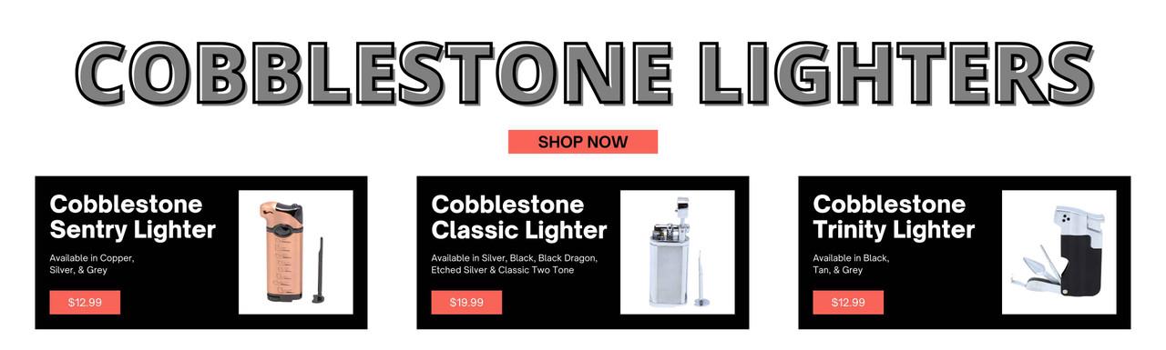 Cobblestone Pipe Lighters - TobaccoPipes