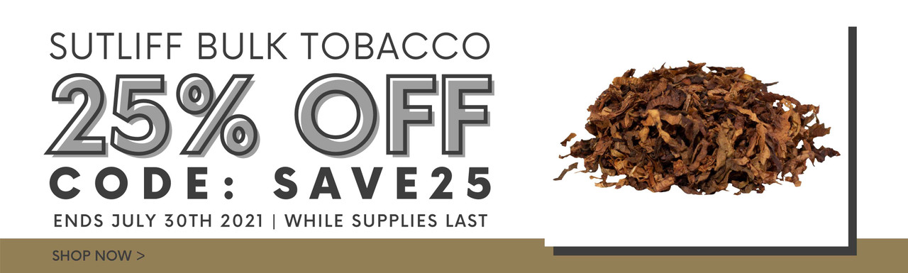 25% off Sutliff Bulk - TobaccoPipes