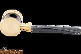 Tsuge Metal Blowfish Gold Smooth Tobacco Pipe Apart