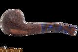 Savinelli Fantasia Brown 626 Tobacco Pipe - Rustic Bottom