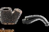 Peterson Aran 306 Bandless Rustic Tobacco Pipe Apart