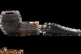 Peterson Aran 150 Bandless Rustic Tobacco Pipe Apart
