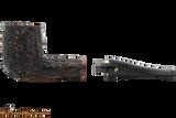 Peterson Aran 107 Bandless Rustic Tobacco Pipe Apart