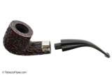 Peterson Donegal Rocky 01 Tobacco Pipe Fishtail Apart