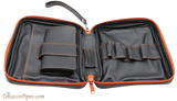 4th Generation Black 4 Pipe Combo Pouch Open
