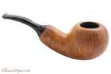 Chacom Reverse Calabash Orange Tobacco Pipe Right Side