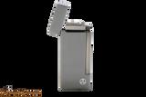 Rattray's Grand Gunmetal Stripes Tobacco Pipe Lighter Open