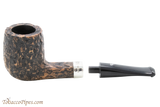 Peterson Short 264 Rustic Tobacco Pipe Fishtail Apart