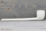Old German Clay Pipe 22 White Finish Right Side