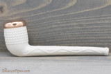 Old German Clay Pipe 44R White Finish