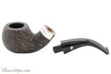 Peterson Short 03 Rustic Tobacco Pipe Fishtail Apart