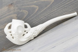 Old German Clay Pipe 10 White Finish