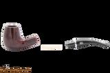 Rossi Rubino Antico 628 Smooth Tobacco Pipe Apart