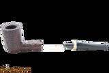 Savinelli New Oscar 412 KS Rustic Brown Tobacco Pipe Apart